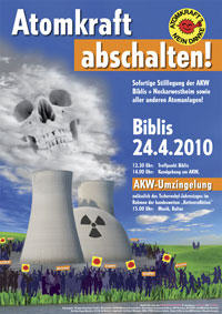 Demo-Plakat AKW, 24. April 2010
