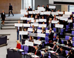 Protest der Linksfraktion im Bundestag